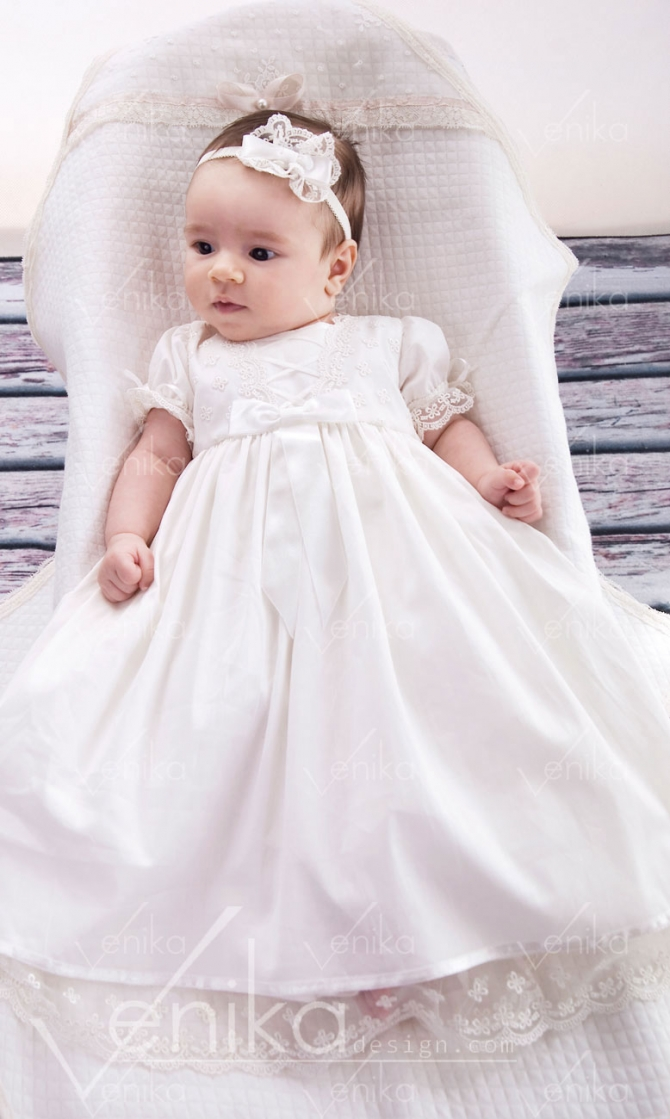 Delicate christening dress DIANA